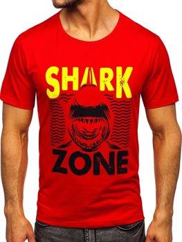 Červené pánské tričko s potiskem Bolf KS2652