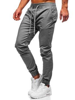 Grafitové pánské jogger kalhoty Bolf KA951