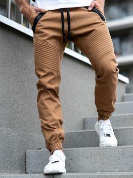 Kamelové pánské jogger kalhoty Bolf 0952-A