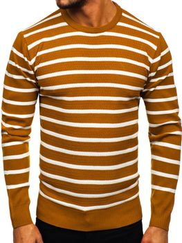 Kamelový pánský svetr Bolf H6052