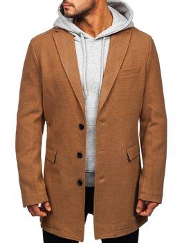Kamelový pánský zimní kabát Bolf 1047C