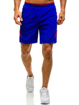 Královsky modré pánské plavecké šortky Bolf WK17