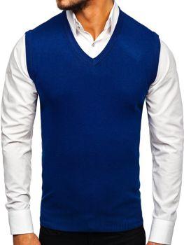 Modrá pánská pletená vesta Bolf H1939