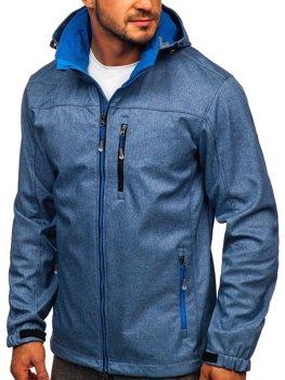 Modrá pánská přechodová softshellová bunda Bolf BK033