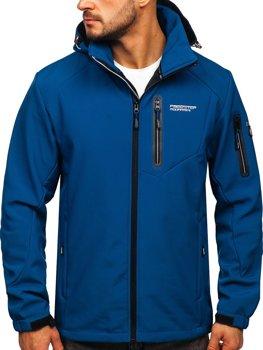 Modrá pánská softshellová bunda Bolf BK067