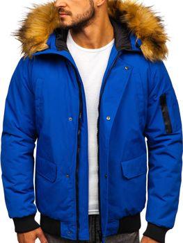 Modrá pánská zimní bunda Bolf 2019