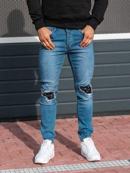 12a9e9908 Modré pánské džínové jogger kalhoty Bolf 2044-1