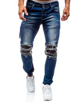 Modré pánské džínové jogger kalhoty Bolf 457