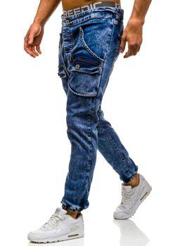 Modré pánské džínové jogger kalhoty Bolf 814