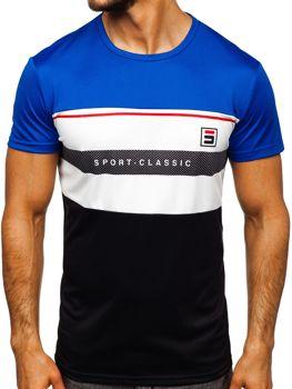 Modré pánské tričko s potiskem Bolf SS10995