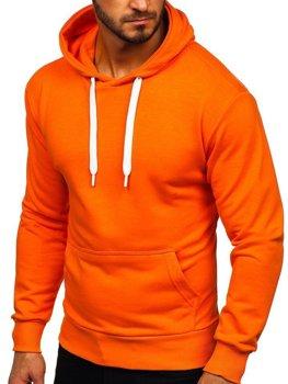 Oranžová pánská mikina s kapucí Bolf 1004