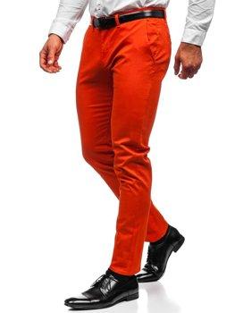 Oranžové pánské chino kalhoty Bolf 1143