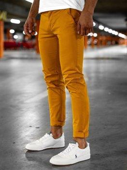 Oranžové pánské chino kalhoty Bolf 1146