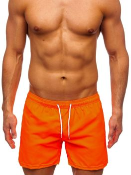 Oranžové pánské plavecké šortky Bolf ST002