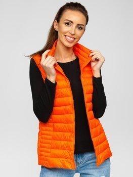 Oranžovo-neonová dámská prošívaná vesta Bolf 23038