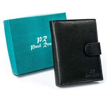 Pánská černá kožená peněženka 4628