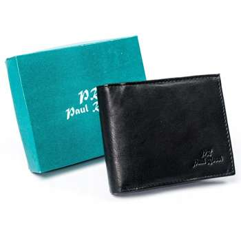 Pánská černá kožená peněženka 4629