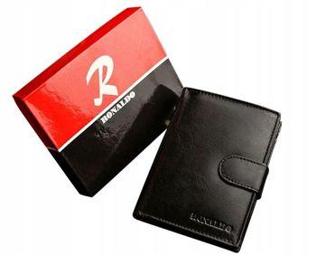 Pánská černá kožená peněženka 601