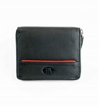 Pánská černá kožená peněženka 871