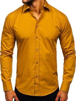 Pánská košile BOLF 1703 kamelová
