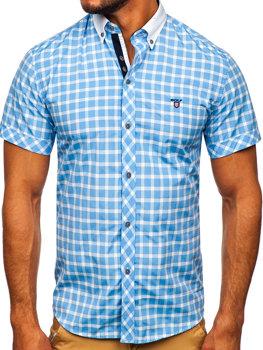 Pánská košile BOLF 5531 blankytná d1e5fdfb05