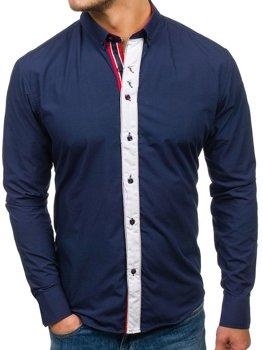Pánská košile BOLF 5827 tmavě modrá