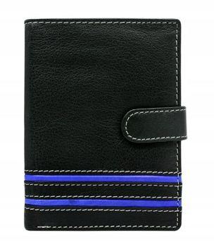 Pánská modrá kožená peněženka 596