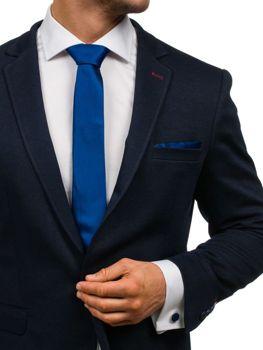 Pánská sada kravata, man?etové knoflí?ky, tmavě modry kapesní?ek Bolf KSP01