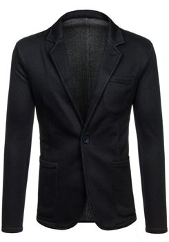 Pánské černé sako casual Bolf 013