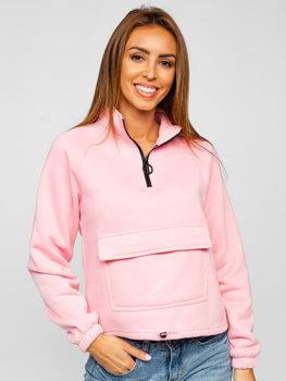 Růžová dámská mikina Bolf KSW2032