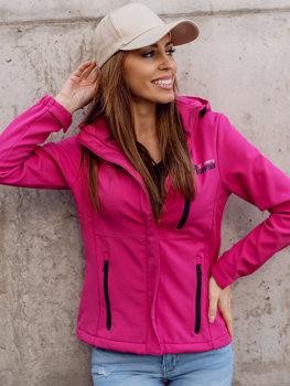 Růžová dámská přechodová softshellová bunda Bolf HH028