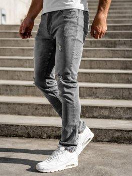 Šedé pánské džíny regular fit Bolf T324