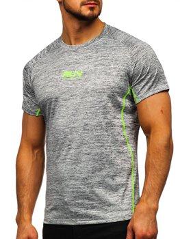 Šedé pánské sportovní tričko s potiskem Bolf KS2101