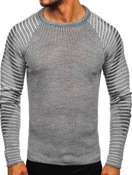 Šedý pánský svetr Bolf 0002