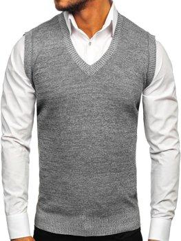 Šedý pánský svetr bez rukávů Bolf 8121