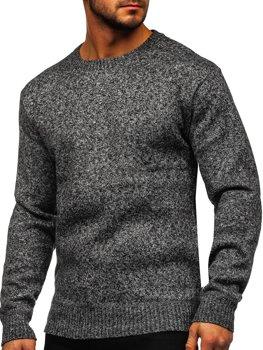 Šedý pánský zateplený svetr na zip Bolf 7M117