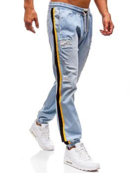 Světlé modré pánské džínové baggy kalhoty Bolf 2041