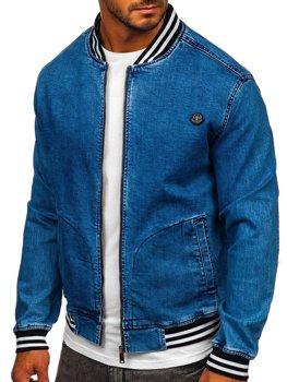 Tmavě modrá pánská džínová bunda Bolf RB9907