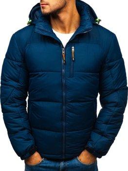 Tmavě modrá pánská sportovní zimní bunda Bolf AB71