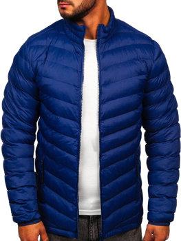 Tmavě modrá pánská sportovní zimní bunda Bolf SM70