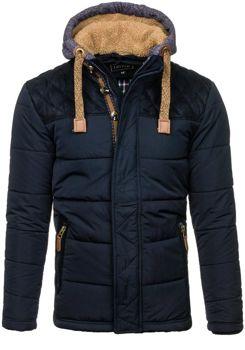 Tmavě modrá pánská zimní bunda Bolf 3092