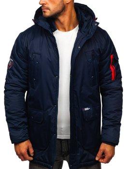 Tmavě modrá pánská zimní bunda Bolf HY827