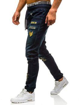Tmavě modré pánské džínové jogger kahoty Bolf 0806