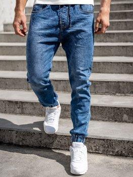 Tmavě modré pánské džínové jogger kahoty Bolf K10003