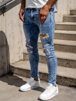 Tmavě modré pánské džíny skinny fit Bolf KX571