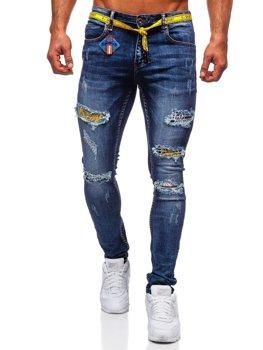 Tmavě modré pánské džíny slim fit Bolf 80030W0