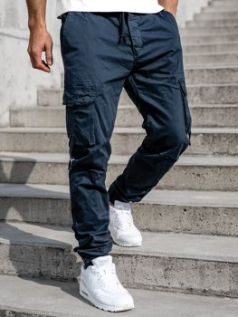 Tmavě modré pánské jogger kapsáče Bolf 8956