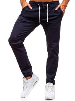 Tmavě modré pánské jogger tepláky Bolf 1121
