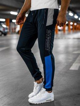 Tmavě modré pánské teplákové joggery Bolf HY722