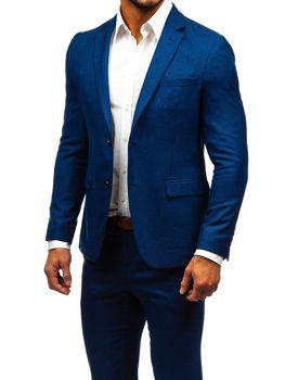 Tmavě modrý pánský oblek Bolf 171000-1
